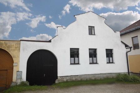 Starobylý dům ve Strmilově v jižních Čechách