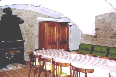 Ubytování v jižních Čechách - Dům ve Strmilově - společenská místnost